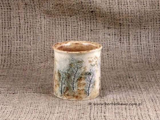 Kubek ceramiczny Ziołowy Zakątek III do yerba mate