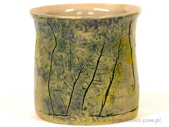 Kubek ceramiczny Ziołowy Zakątek V do yerba mate