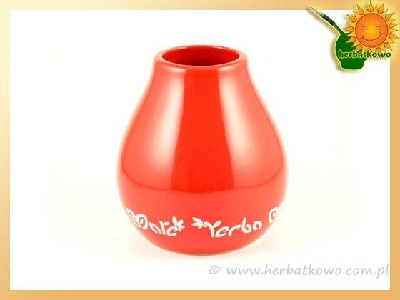 Matero ceramiczne Luka Red do Yerba Mate