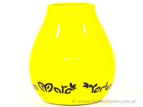 Matero ceramiczne Luka Yellow do Yerba Mate