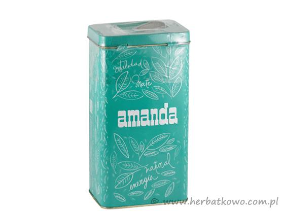 Yerba Mate Amanda 0,5 kg w turkusowej puszce
