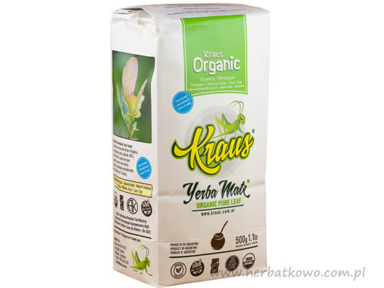 Yerba Mate Kraus Organic Pure Leaf 0,5 kg
