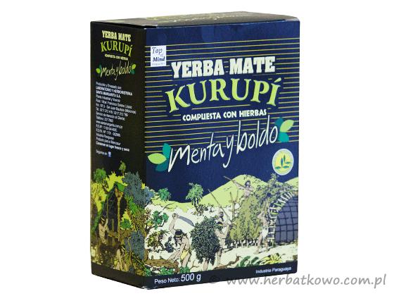 Yerba Mate Kurupi Menta Boldo 0,5 kg